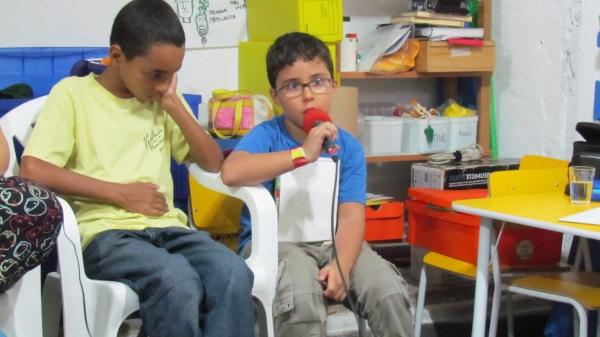Filipe de 7 anos, dando sua opinião